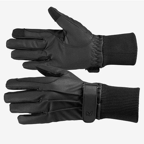 Horze Leather Fleece Gloves