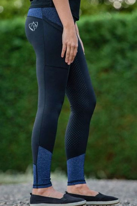 BARE Youth Riding Tights -Blue Storm