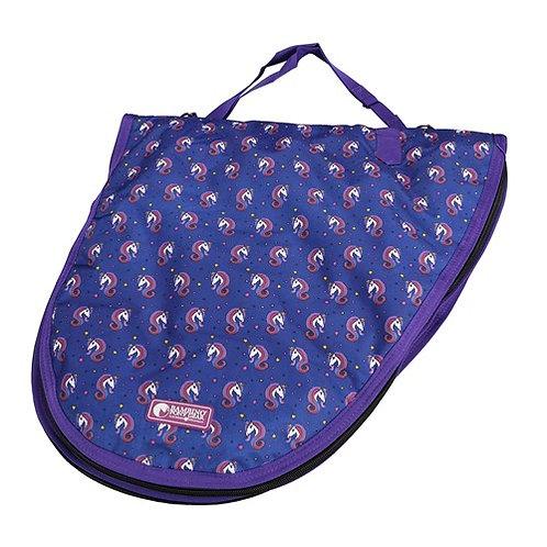 Navy Unicorn Saddle Bag
