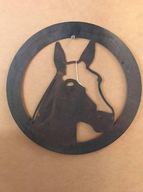 Horse Head Metal Art