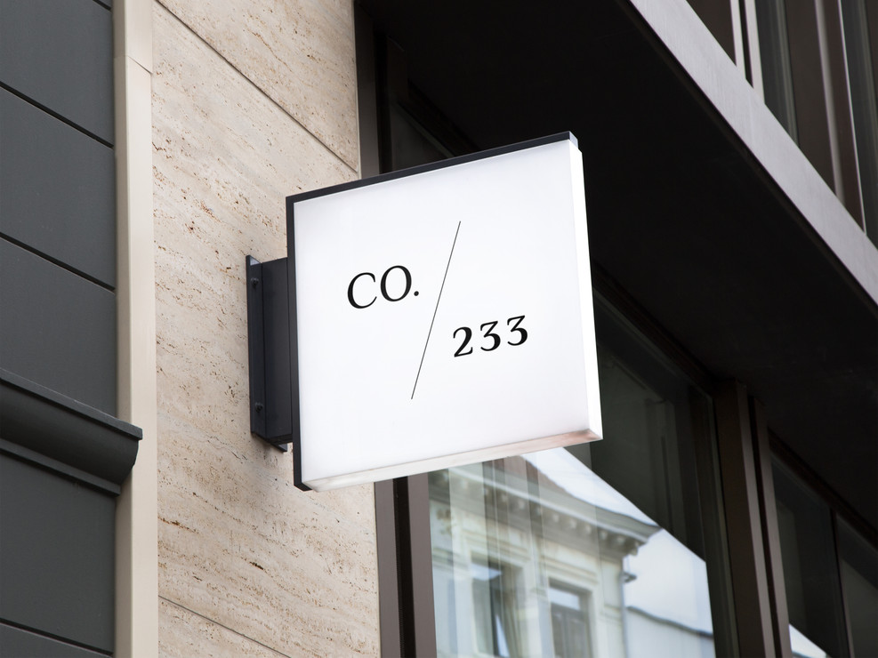 Collective233 sign design Identity Creat