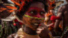 Kid from a Papua New Guinean tribe