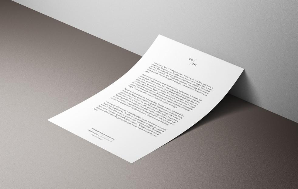 Letterhead Co233 Identity Creators