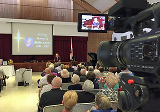 Memorial Church Service Videotaped