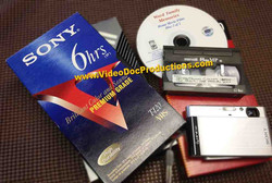 VHS, 8mm Video Tapes