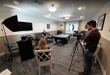 Video Taping Testimonials for Cassia