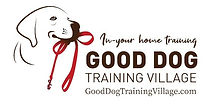 Dog and it's leash with Logo of Goo Dog Training Village
