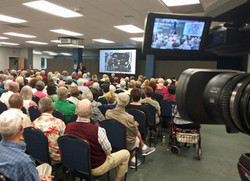 Videotaping a presentation in The Villages