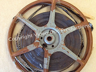 Old home movie film deteriorating