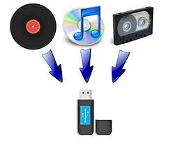 Audio converted to Flash Drive