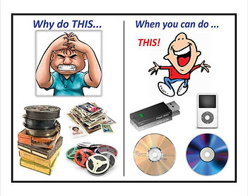 Convert old meda to new mediasuch as DVDs