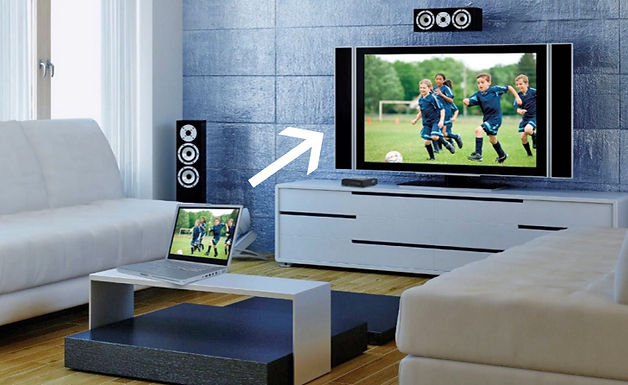 Beam anything on your laptop screen to your TV with this device.