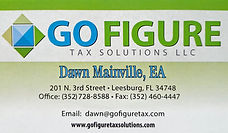 Go Figure Tax Solutions Business Card