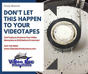 Home video tapes copied to DVD
