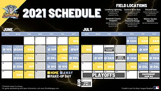 2021 Lightning Baseball Schedule
