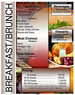 Bloom's Catering Menu Page2