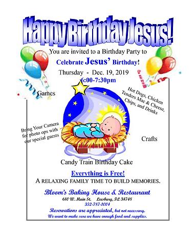 Happy Birthday Jesus Party 2019