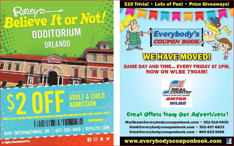 Coupons to save money in Central Florida