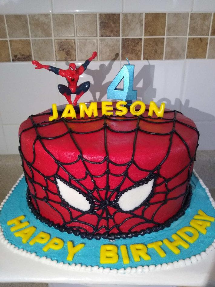 Custom Spiderman Cake