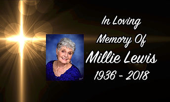 Glden cross ith a picture and loving memory text