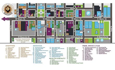 Downtown Leesnurg FL Business Map - Thum