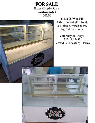 Bakery Showcase for Sale