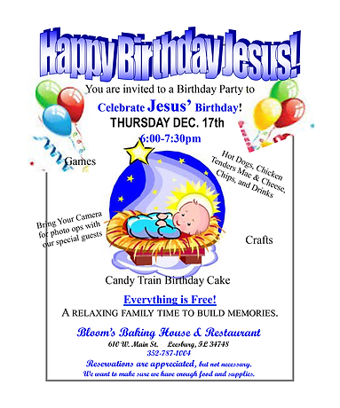 Happy Birthday Jesus Party 2020 flyer.pn