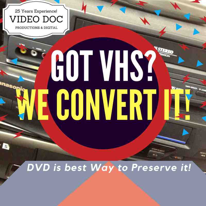 Got VHS? You need to save it on DVD