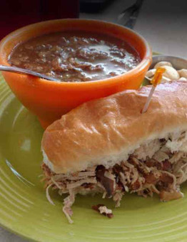 Chicken Philly Sandwich and a cup of soup