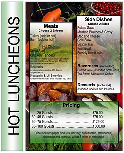 Catering Menu Page 3