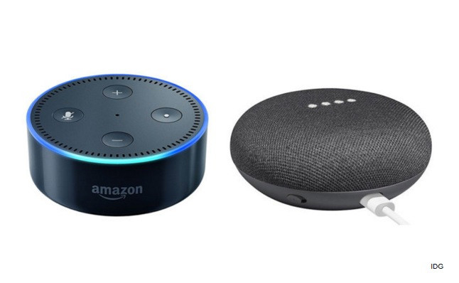 Amazon Echo vs Google Home Mini Speakers