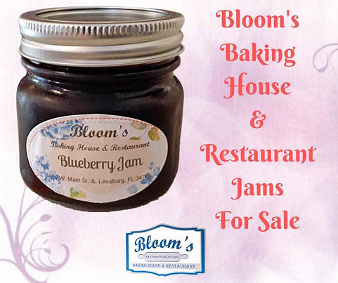 Jam For Sale at Bloom's Baking House, Leesburg, FL
