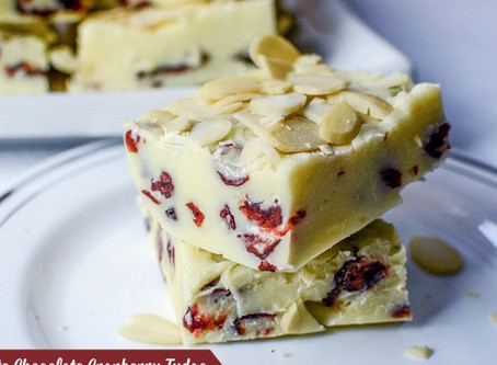 White Chocolate Cranberry Fudge Recipe