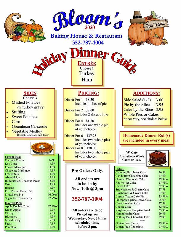 Thanksgiving Dinner Guide