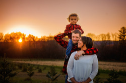 family picture sunset mom dad