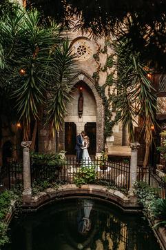 Hammond Castle Wedding Bride and Groom