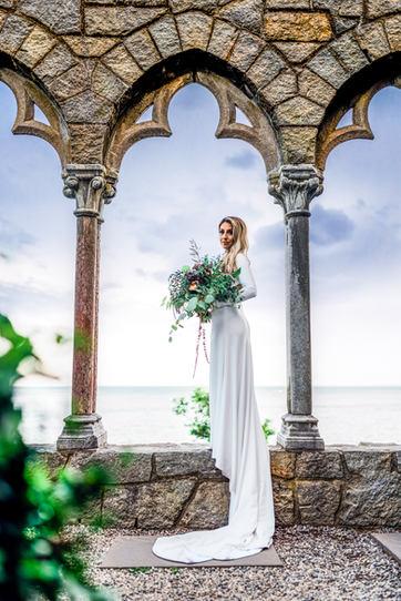 Bride Portrait at Hammond castle in Gloucester Massachusetts