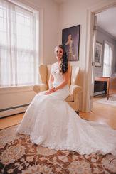 Bride in wedding dress photo in Vermont
