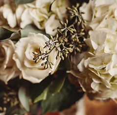 Wedding Flowers and Engagement Ring