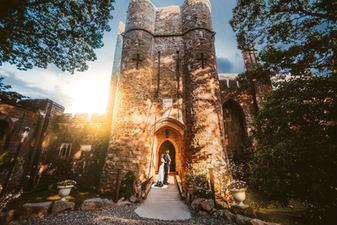 Hammond Castle Wedding Bride and Groom Photography