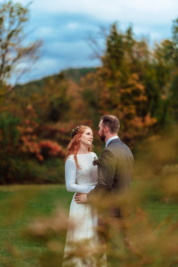 Wedding Photography at Rockingham Hill Farm in Vermont Fall Foliage Wedding Photograph by Anne-Marie Photography
