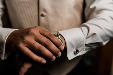 Groom portrait wedding day photography
