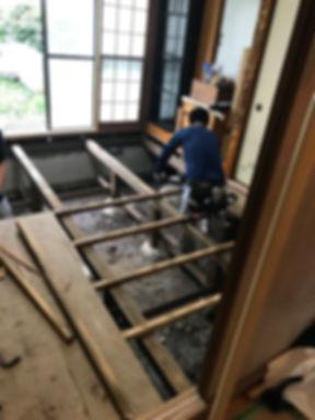 所沢のリフォーム会社原田ホームで和室を洋間に変更するリフォームをした時の施工写真