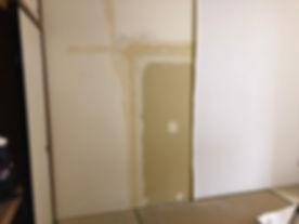 所沢のリフォーム会社原田ホームで賃貸マンションの退去立会いをした後の施工中写真