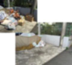 所沢のリフォーム会社原田ホームで賃貸マンションの管理業務をしている写真。これは特に粗大ゴミの放置対策を実施した時の写真。