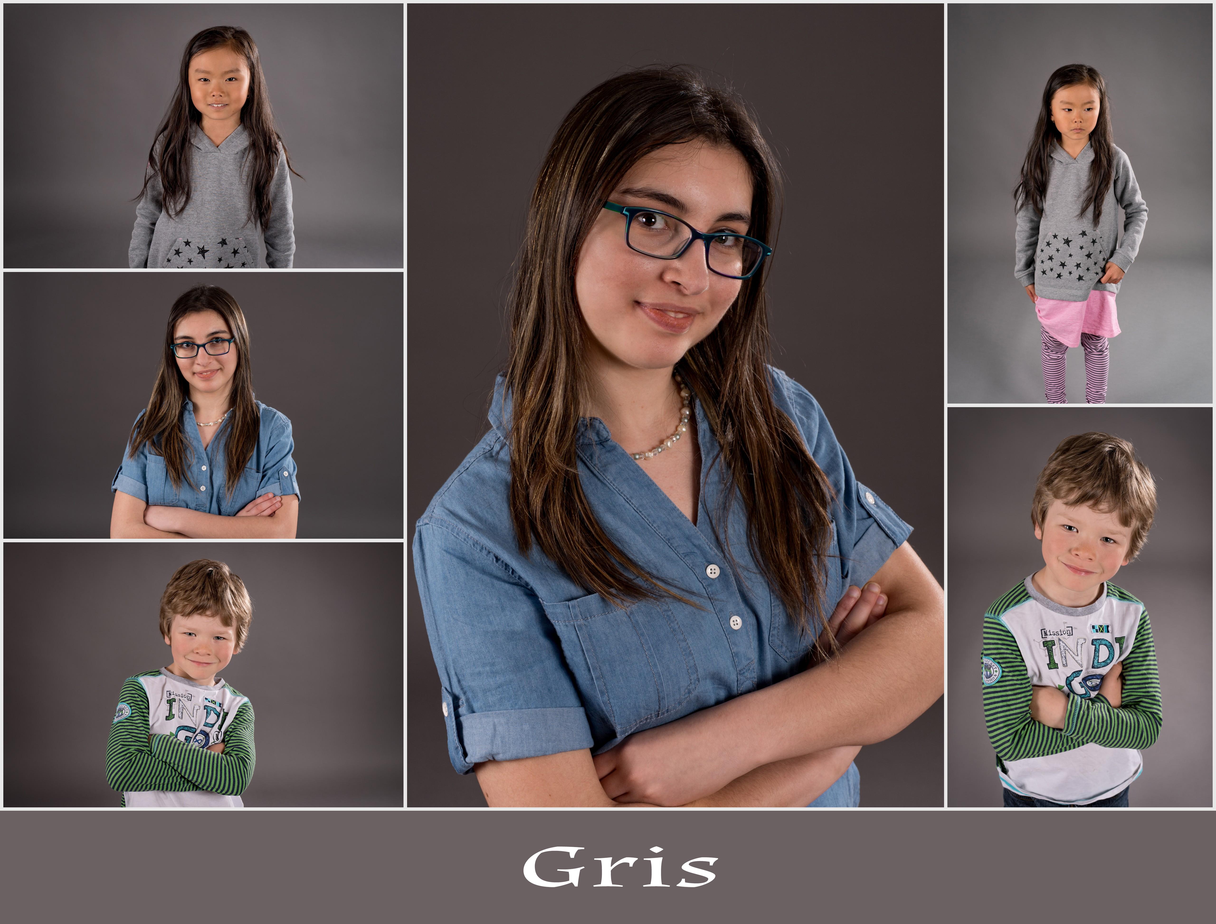 Fond gris studio photo
