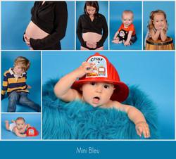 fond bleu studio photo