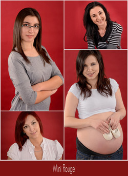 fond rouge studio photo