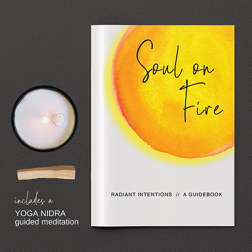 Set Your Soul On Fire • Candle + Intention Setting Kit