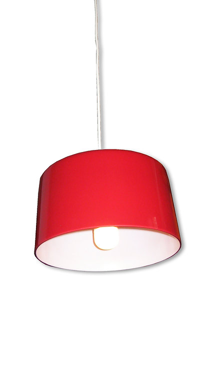 Rød-hvid glaspendel